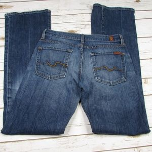 7 For All Mankind Bootcut Size 27 Distressed